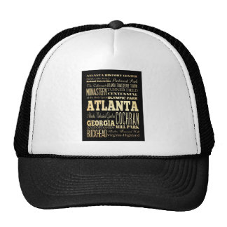 Atlanta City of Georgia State Typography Art Trucker Hat