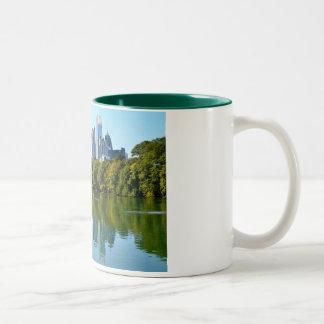 Atlanta city view from Piedmont Park Two-Tone Coffee Mug