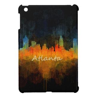 Atlanta City Watercolor Skyline v4 Dark iPad Mini Cover