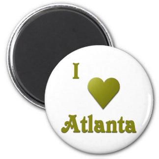 Atlanta -- Deep Green Refrigerator Magnet