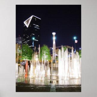 Atlanta en la noche póster