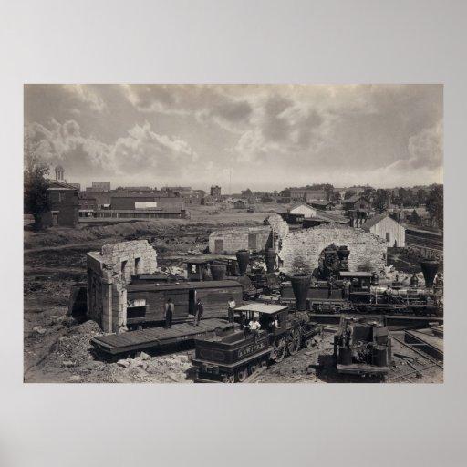 Atlanta en ruinas póster