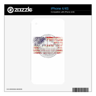 Atlanta-Flag Decal For The iPhone 4S