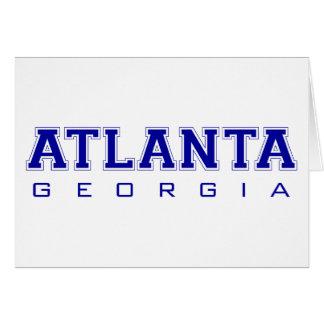 Atlanta, GA - Blue Letters Cards