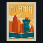 "Atlanta, GA - EST. 1845 Postcard<br><div class=""desc"">Anderson Design Group is an award-winning illustration and design firm in Nashville,  Tennessee. Founder Joel Anderson directs a team of talented artists to create original poster art that looks like classic vintage advertising prints from the 1920s to the 1960s.</div>"