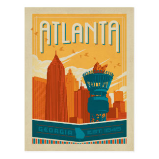 Atlanta, GA - EST. 1845 Postcard