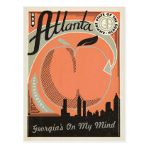 Atlanta, GA - Georgia's on my Mind Postcard