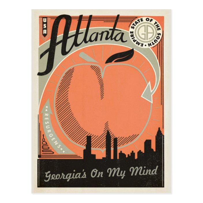 Atlanta, GA - Georgia's on my Mind Postcard | Zazzle.com