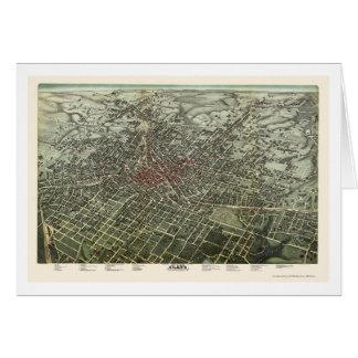 Atlanta, GA Panoramic Map - 1892 Card