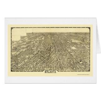Atlanta, GA Panoramic Map - 1919 Card