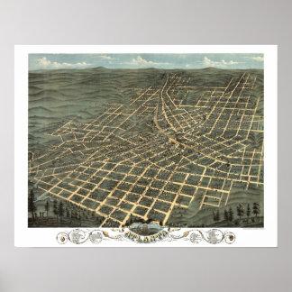 Atlanta, GA Panoramic Map DIGITALLY REMASTERED Posters