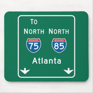 Atlanta, GA Road Sign Mouse Pad