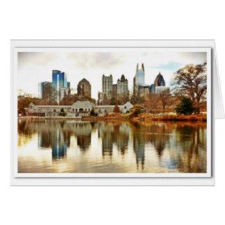 Atlanta, GA Skyline in Winter Card