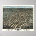 Atlanta, Georgia - 1871 (A. Ruger) BigMapBlog.com Poster