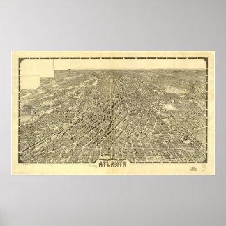 Atlanta Georgia 1919 Antique Panoramic Map Print