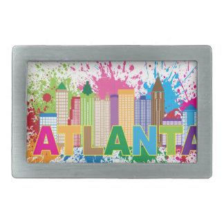 Atlanta Georgia Abstract Skyline Illustration Rectangular Belt Buckle