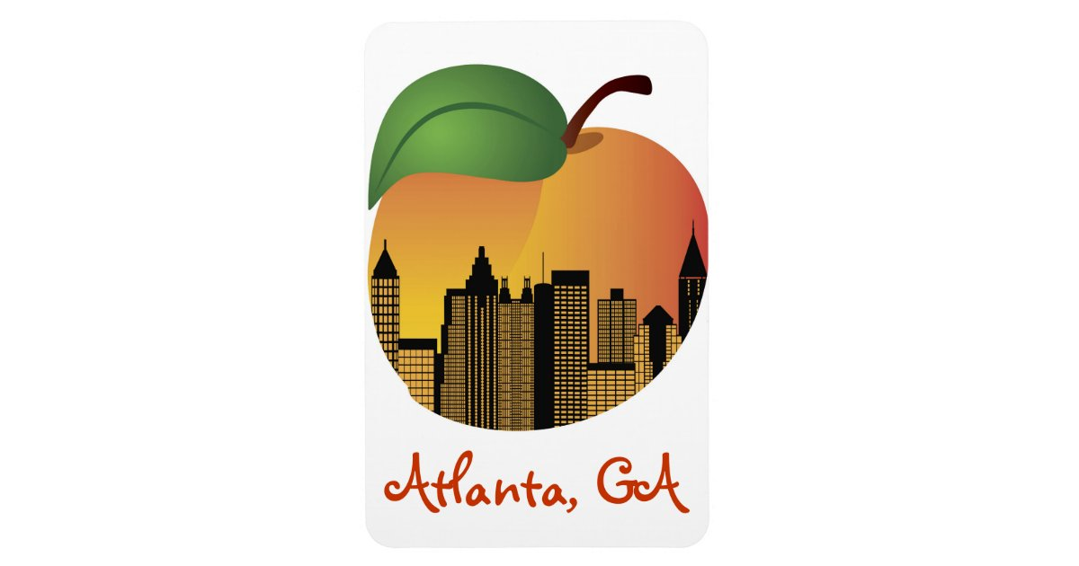 Atlanta Georgia And Peach Magnet Zazzle