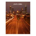 Atlanta Georgia at Dusk Postcard