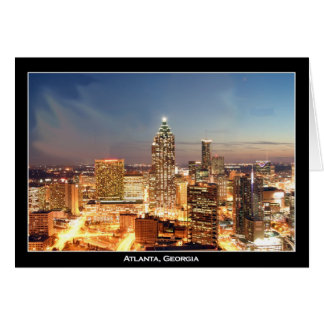 Atlanta, Georgia at Night - Beautiful Skyline Card