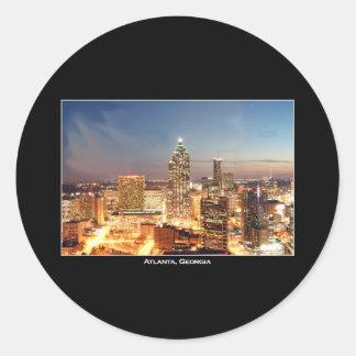 Atlanta, Georgia at Night - Beautiful Skyline Classic Round Sticker