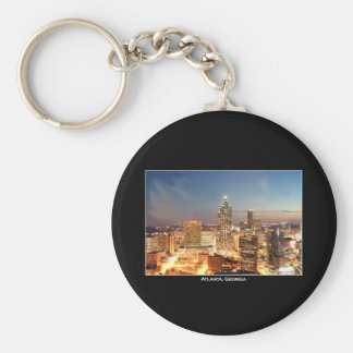 Atlanta, Georgia at Night - Beautiful Skyline Keychain