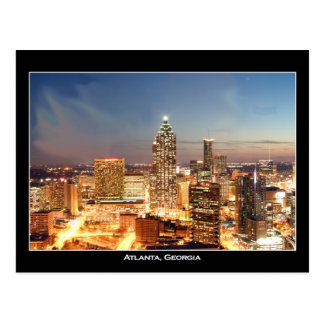 Atlanta, Georgia at Night - Beautiful Skyline Postcard
