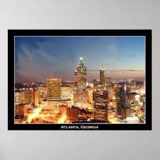 Atlanta, Georgia at Night - Beautiful Skyline Poster