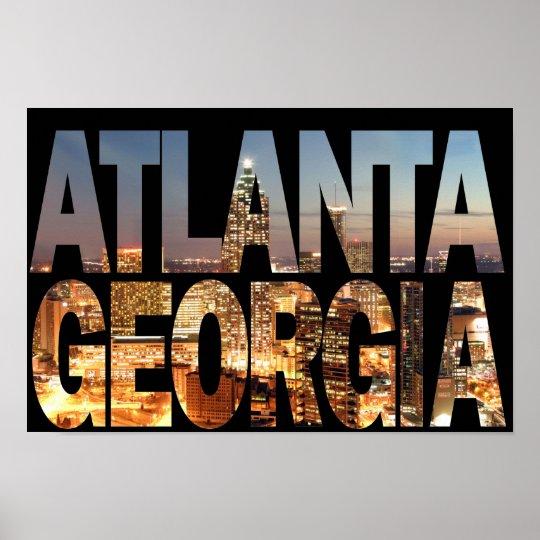 Atlanta Georgia at Twilight Poster