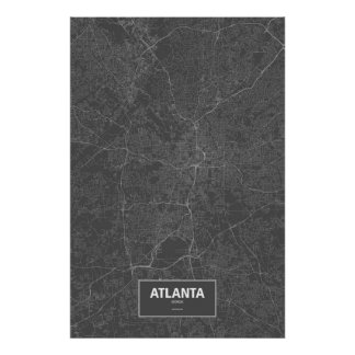 Atlanta, Georgia (blanca en negro) Posters