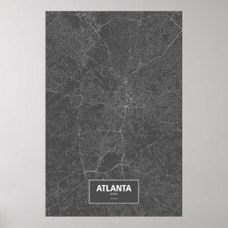Atlanta, Georgia (blanca en negro) Póster