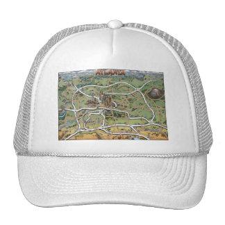 Atlanta Georgia Cartoon Map Trucker Hat