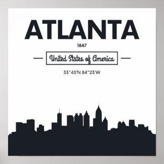 Atlanta, Georgia   City Coordinates Poster