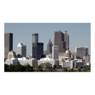 Atlanta Georgia Cityscape Double-Sided Standard Business Cards (Pack Of 100)