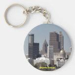atlanta georgia cityscape basic round button keychain