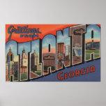 Atlanta, Georgia - escenas grandes 2 de la letra Poster