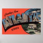Atlanta, Georgia - escenas grandes de la letra Póster
