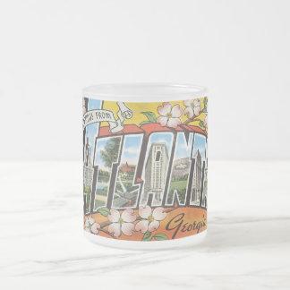 Atlanta Georgia Frosted Glass Coffee Mug