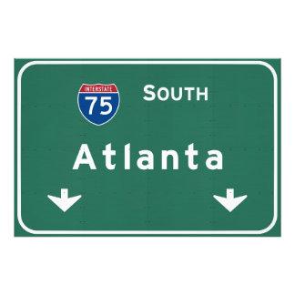 Atlanta Georgia ga Interstate Highway Freeway : Photo Print