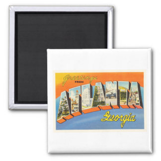 Atlanta Georgia GA Old Vintage Travel Postcard- Magnet