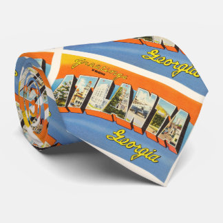 Atlanta Georgia GA Old Vintage Travel Postcard- Neck Tie