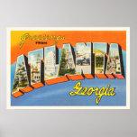 Atlanta Georgia GA Old Vintage Travel Postcard- Poster