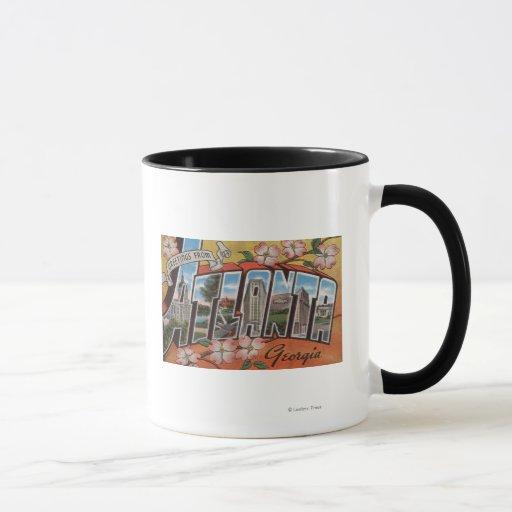 Atlanta, Georgia - Large Letter Scenes 2 Mug