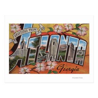 Atlanta, Georgia - Large Letter Scenes 2 Postcard