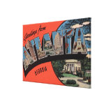 Atlanta, Georgia - Large Letter Scenes Canvas Print