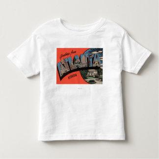 Atlanta, Georgia - Large Letter Scenes Toddler T-shirt