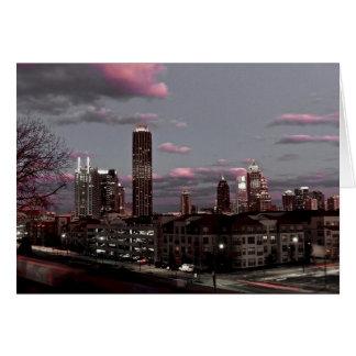Atlanta, Georgia Night Skyline Card