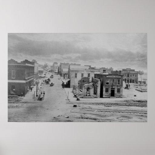 Atlanta, Georgia Peachtree Street in 1864 Poster