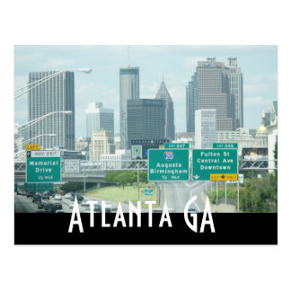 atlanta georgia postcards