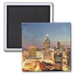 Atlanta, Georgia skyline 2 Inch Square Magnet