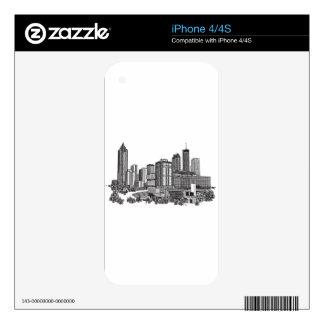 Atlanta Georgia Skyline Art iPhone 4S Decals